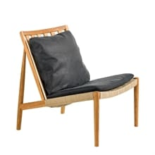 Easy Chair Ek olja Skinn Dunes svart